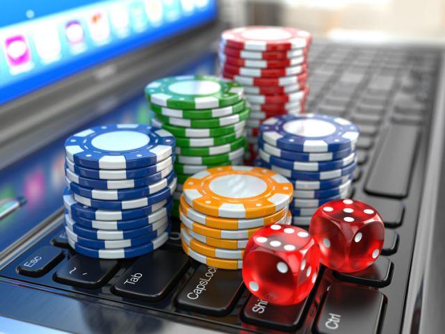 Online gambling. Laptop